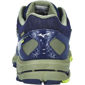 Mizuno Wave Mujin 4 G-TX Shoes Men Dress Blues/Greenery/Olivine